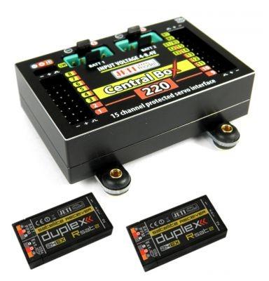 DUPLEX 2.4EX Central Box 220 + 2 x Rsat mit Magnetschalter