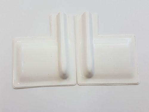 Servoabdeckungen 60x50 L/R mit Gestängeschutz Weiss zu RCRCM Modellen 2Stk.