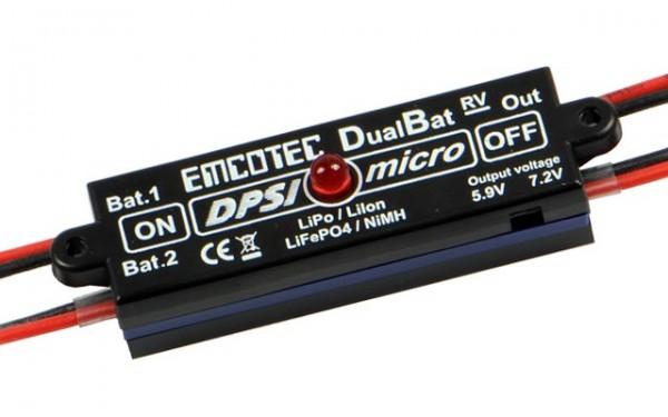 DPSI Micro DualBat 5.9V/7.2V MPX Akkuweiche