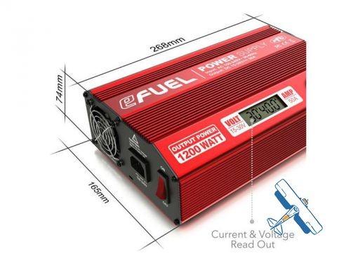 Netzteil eFuel 1200W/50A 15-30Volt einstellbar LCD Anzeige - www.looping24.de