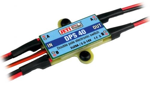 DPS 40 Jeti Universal Switch 2 x 20A